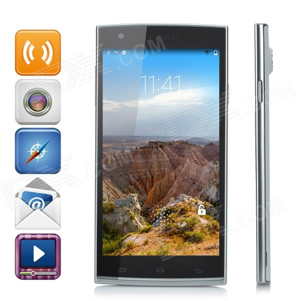 L8 5.5 Octa-Core Android 4.4.2 3G WCDMA/GSM Phone w/ Dual-SIM, Dual-Cam, 1GB RAM, 8GB ROM - White z2 mtk6592 octa core android 4 2 2 wcdma bar phone w 5 0 ips hd 2gb ram 8gb rom gps otg white