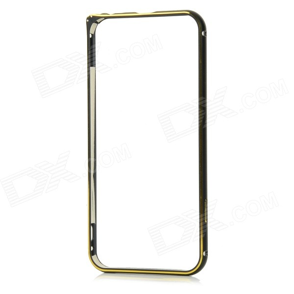 Protective Aluminum Alloy Bumper Frame for IPHONE 6 - Black + Golden cute cartoon pattern pu tpu flip open case w stand card slots for htc one2 m8 black grey