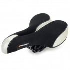 NUCKILY S003 Outdoor Cycling Ventilate Breathable Lycra + Silicone Bike Saddle Pad - Black + Silver