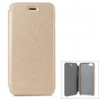 "HOCO Stylish Protective Flip Open PU Case w/ Auto-Sleep for IPHONE 6 4.7"" - Golden"