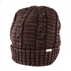OUMILY Men's Outdoor Casual Warm Keeping Woolen Hat - Coffee