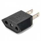 Round to Flat Power Plug Convertor - Black