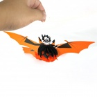 Los murciélagos de papel decorativo de Halloween - Naranja + Negro + Multi-color (3 PCS)