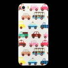 Ultra-thin Embossed Car Pattern Protective TPU Back Case for IPHONE 5 / 5S - Beige + Multi-Color