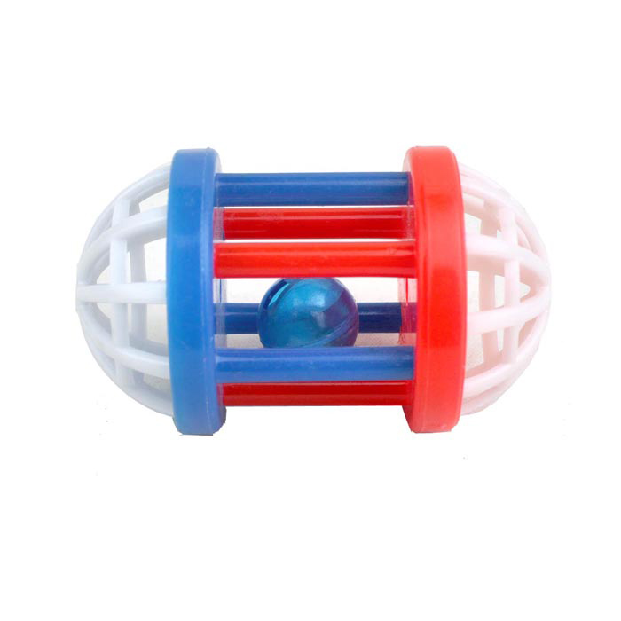 Cute Cage Bead Toy for Pet Cat / Dog - White + Red