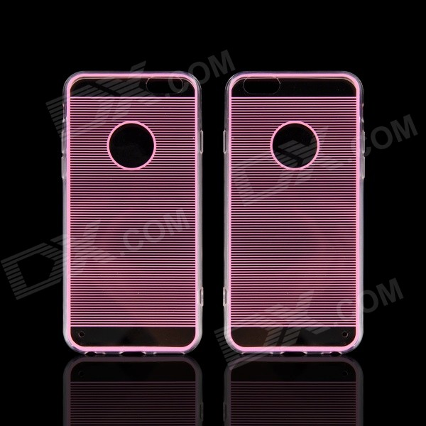 Angibabe Straight Line Acrylic + TPU Back Case for IPHONE 6 4.7 - Pink transparent acrylic pc back tpu edges hybrid shell for iphone 6s 6 pink