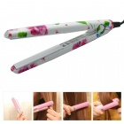 LOOF JR-198 Professional Mini PVC Hair Straightener - White + Red (EU Plug / 220~240V)
