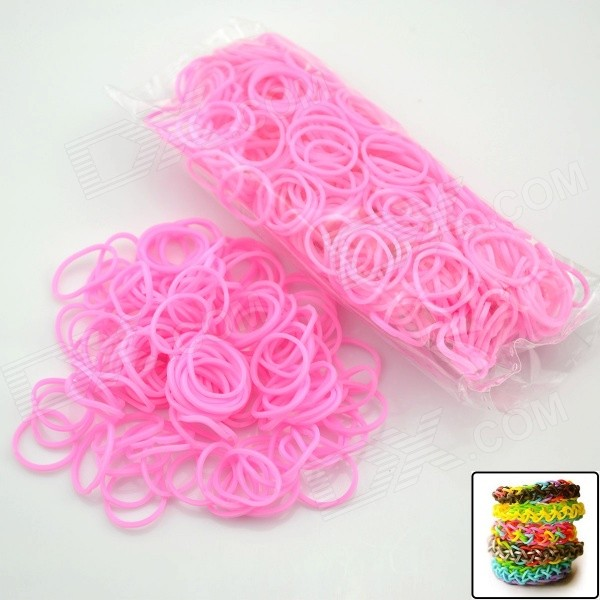 DIY Elastic Silicone Rubber Band Bracelet + S Hook Set for Children - Pink children s clothing new spring and autumn 2018 children s skirt suit children s three piece children s suits