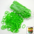 "DIY Elastic Silicone Rubber Band Bracelet + ""S"" Hook Set for Children - Green"