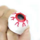 Halloween Glowing Eyeball Style Decoration Silicone Ring - White + Red + Black