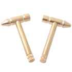 Mini Pocket-sized Copper Hammer Repair Tool for Watch / Jewelry / Craft + More - Golden (2 PCS)
