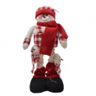 NEJE ST0006-4 Christmas Stretch Santa Claus Gift Snowman Doll - Red + White
