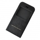 "360 Degree Rotating Protective PU Leather + Plastic Case w/ Stand for IPHONE 6 4.7"" - Black"