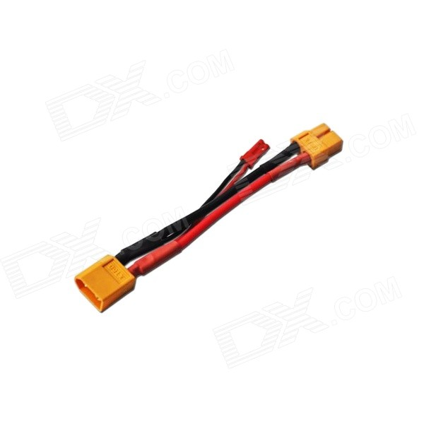 37-8 XT60 Male to XT60 Female + JST Male Converter Wire - Yellow + Black + Red xt60 male to 2 xt60 female connecting wire black red 5 pcs