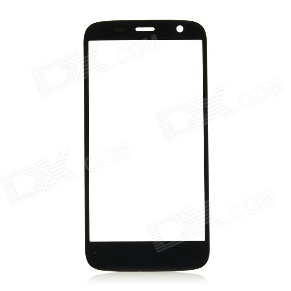 Replacement Water-resistant Tempered Glass Front Screen Cover for Motorola XT1032 / XT1033 - Black replacement tempered glass lcd touch screen module for motorola xt1030 droid mini white