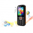 "NOAIN 007 IP67 Waterproof Dustproof Shockproof GSM Phone w/ 2.4"", Dual SIM, GPS - Black + Orange"
