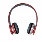 Foldable Wireless Stereo Bluetooth Bass Headphones - Red