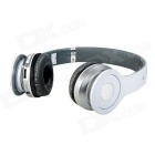 Foldable Wireless Stereo Bluetooth Bass Headphones - White