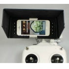 Shading Visor Cover for DJI Phantom 2 Vision + DJI Phone Clamp Holder - Black + White