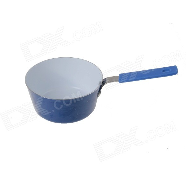 Non-stick Cookware Cooker Mini Frying Pot - White + Blue