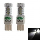 Zweihnder 7440 80W 6800LM 6500K White Light Fog Lamp Bulb w/ 16xCree XP-D for Car (12-24V,2 PCS)
