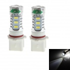 Zweihnder P13W 16W 1500LM 6500K 14 x LED White Light Fog Lamp Bulb for Car (12-24V,2PCS)