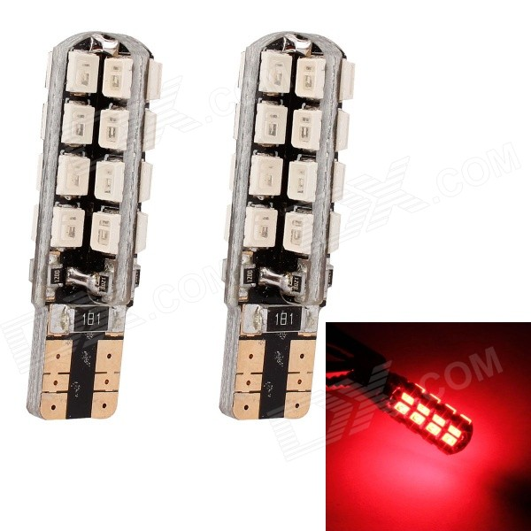 MZ T10 5W 320LM 32-3535 SMD LED Red Light Car Clearance Lamp / Signal Light (12V / 2 PCS)