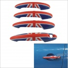 Carking UK Flag Pattern ABS UV Protected Door Handle Cover for Mini Cooper Countryman (4 PCS)