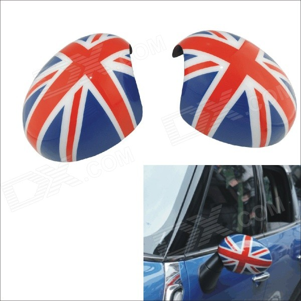 Carking D1409118 UK Flag Pattern ABS Car Door Mirror Stickers - Red + Blue + Multi-Color (2 PCS) nitro triple chrome plated abs mirror 4 door handle cover combo
