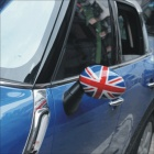 Carking UK Flag Pattern ABS Car Door Mirror Stickers - Red + Blue + Multi-Color (2 PCS)