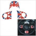 Carking DIY ABS Steering Wheel Covers Stickers for BMW Mini Cooper - Red + Blue + Multi-Color
