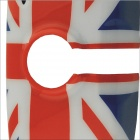 Carking UK Flag Pattern ABS UV Protected Car Interior Mirror Sticker - Red + Blue + Multi-Color