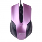 JM-316 Stylish USB 2.0 Wired 1200dpi Gaming Mouse - Purple