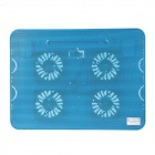 K69 Ultra-quiet USB Powered 4-Fan Cooling Pad for 15.4 inch Laptops - Blue