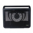 K62 Ultra-quiet USB Powered 1-Fan Cooling Pad for 15.4 inch Laptops - Black