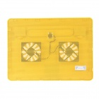 K66 Ultra-quiet USB Powered 2-Fan Cooling Pad for 14 inch Laptops - Yellow