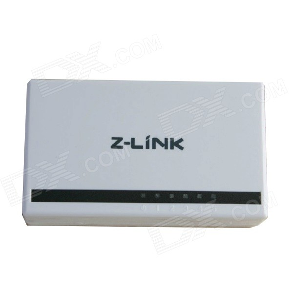 Z-link ZL-SF05 5-Port 10M/100M Ethernet Switch - White