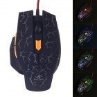 JM-1949 USB 2.0 con cable 800/1200/1600/2400 dpi 6-Key Profesional Gaming Mouse - Negro