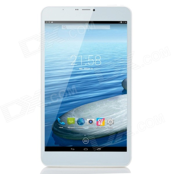 Cube TALK8H Quad-core Android 4.4.2 3G Tablet PC w/ 8.0 IPS, ROM 8GB, Wi-Fi and Bluetooth - White