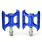 F501C Pedals Set for Cycling MTB Mountain / Folding Bike - Blue (Pair)