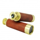 Brass M9x32 Compact Pocket-sized Telescope Monocular - Yellow + Brown