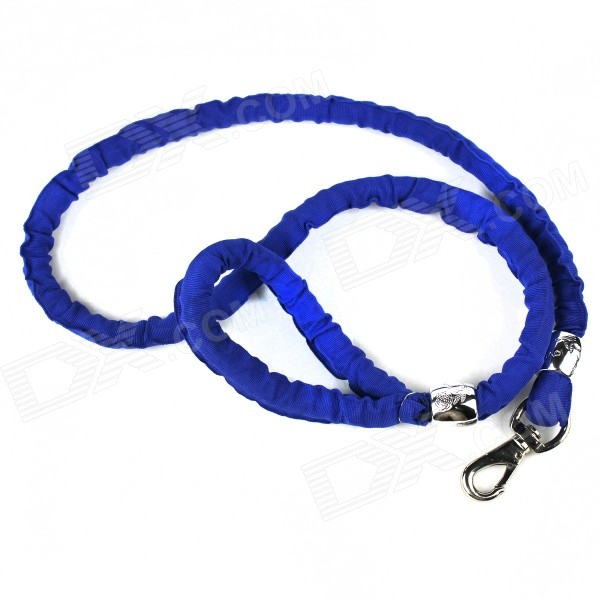 Competition Nylon Large Dog Rope Leash - Deep Blue + Silver (115cm)