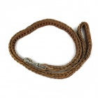 Top Layer Cow Leather Large Dog Rope Leash - Coffee (125cm)