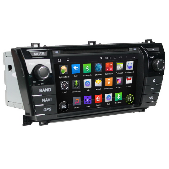 цена на LsqSTAR 7 Capacitive 2Din Android 4.2 Car DVD Player w/ GPS WiFi FM Canbus BT iPod for Corolla 2014