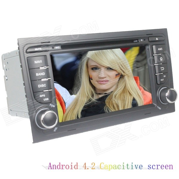 цена на LsqSTAR 7 Capacitive 2Din Android 4.2 Car DVD Player w/ GPS WiFi Canbus FM BT for Audi A4 2003-2011