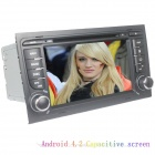 "LsqSTAR 7"" Capacitive 2Din Android 4.2 Car DVD Player w/ GPS WiFi Canbus FM BT for Audi A4 2003-2011"