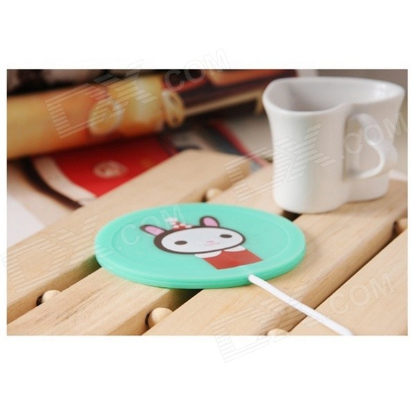 YT-8890 USB Heating Coaster - Green