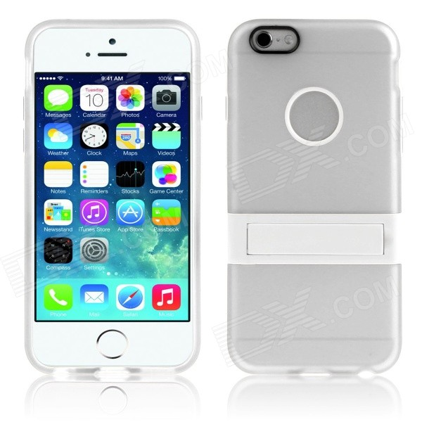"Cubierta protectora de Hat-Prince TPU w / Stand para IPHONE 6 4.7 ""- Blanco"