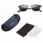 Reedoon Men's Stylish PC Frame Resin Lens UV400 Polarized Sunglasses - Gun Gray