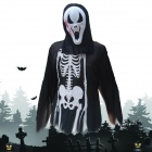 Disfraces de Halloween Scary Centipede Ghost Mask + Esqueleto Patterned Coat Set - Negro + Blanco + Rojo